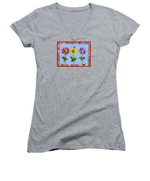 Ladybug Trio Women's V-Neck T-Shirt