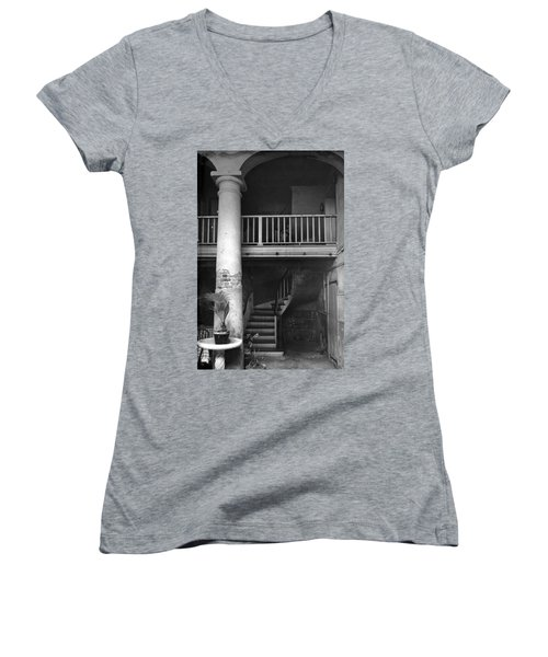 Lafittes Patio At The Absinthe House Women's V-Neck (Athletic Fit)