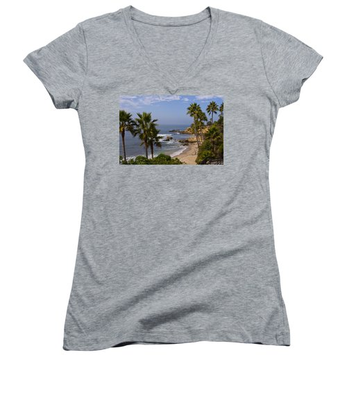 Laguna Beach Coastline Women's V-Neck T-Shirt