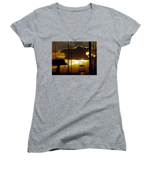 Lahaina Sunsets 5 Women's V-Neck (Athletic Fit)