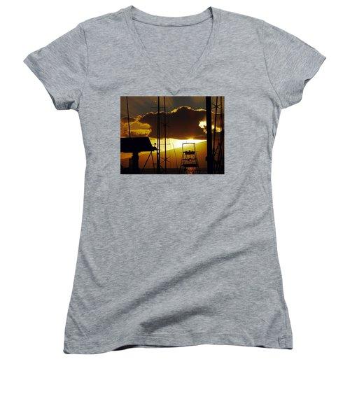 Lahaina Sunsets 5 Women's V-Neck T-Shirt