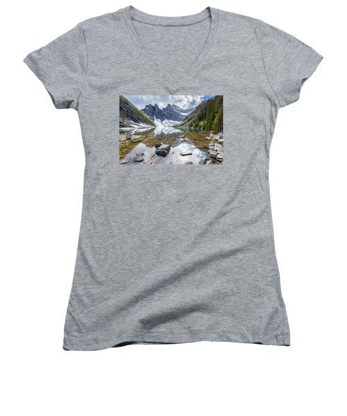 Lake Agnes Women's V-Neck T-Shirt