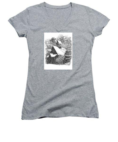 Lake Effect Snow Women's V-Neck T-Shirt