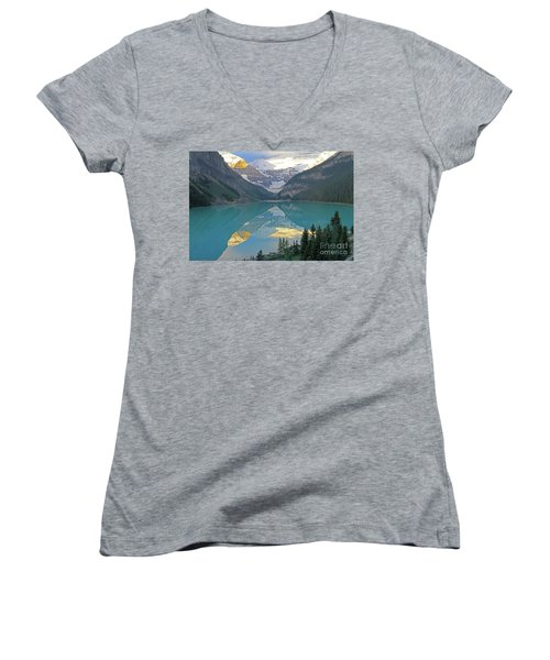 Lake Louise Sunrise Women's V-Neck