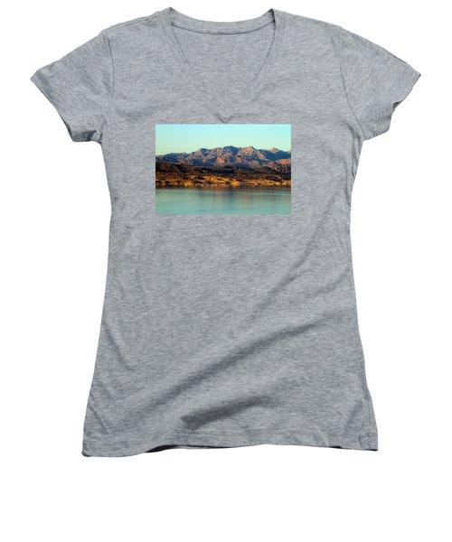Lake Mead Before Sunset Women's V-Neck