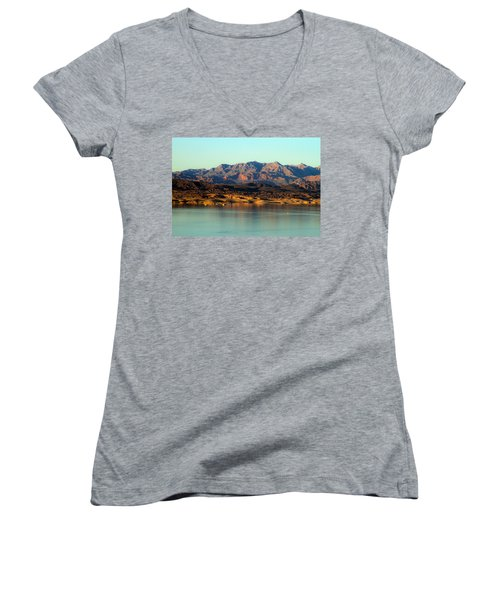 Lake Mead Before Sunset Women's V-Neck (Athletic Fit)