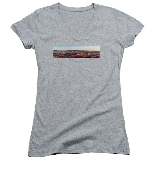 Lake Powell Sunrise Panorma Women's V-Neck