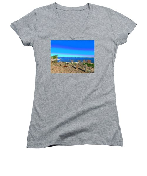 Lake Pueblo Painted Women's V-Neck (Athletic Fit)