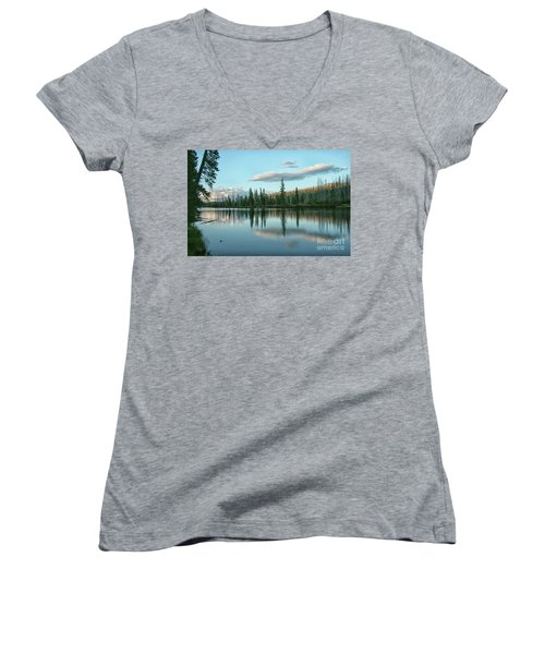 Lake Reflections Women's V-Neck (Athletic Fit)