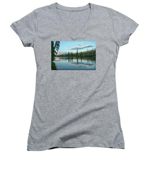 Lake Reflections Women's V-Neck T-Shirt