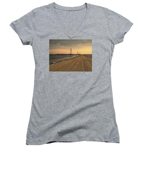Lake Road Women's V-Neck T-Shirt