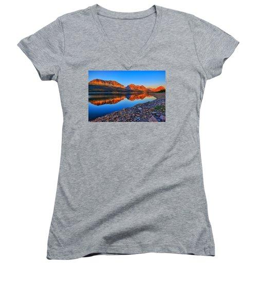 Lake Sherburne Dawn Women's V-Neck