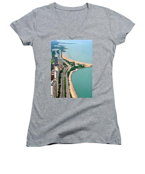 Lake Shore Dr . Chicago Women's V-Neck T-Shirt