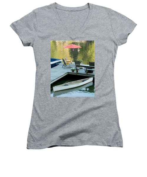 Lake-side Dock Women's V-Neck