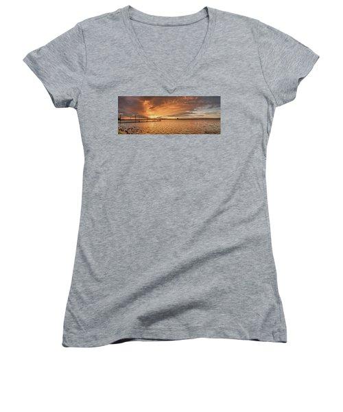 Lake Sunset Women's V-Neck