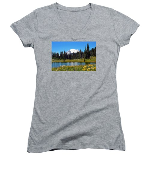 Lake Tipsoo Women's V-Neck T-Shirt