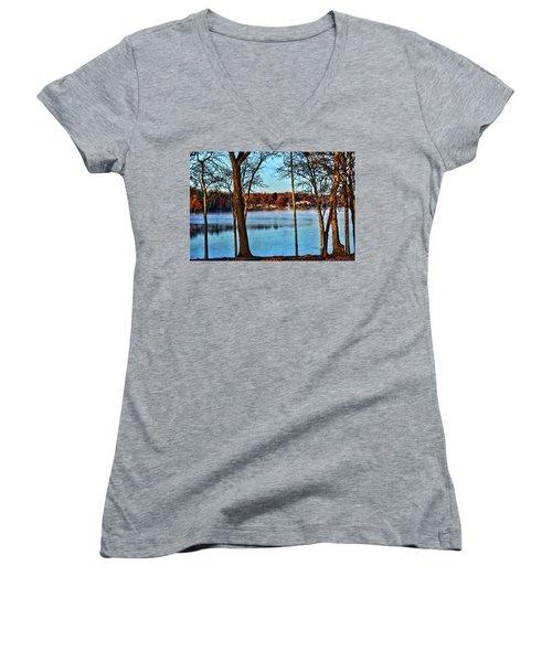 Lake Vapors Women's V-Neck T-Shirt