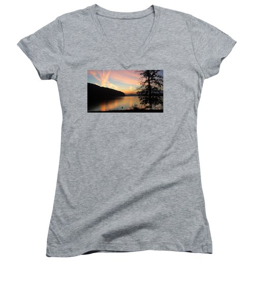 Lakeside Dreaming Women's V-Neck T-Shirt