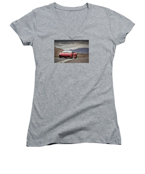 Lamborghini Gallardo Lp570-4 Spyder Performante Women's V-Neck T-Shirt