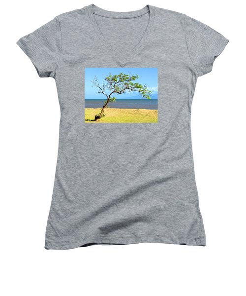 Lanai Leaning Women's V-Neck T-Shirt