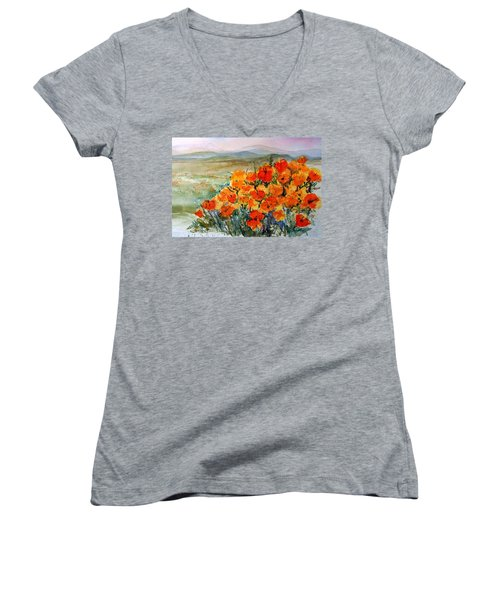 Lancaster Poppy Fields Women's V-Neck (Athletic Fit)