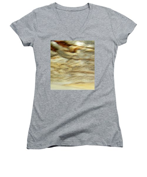Women's V-Neck T-Shirt (Junior Cut) featuring the photograph Land And Sky by Lenore Senior