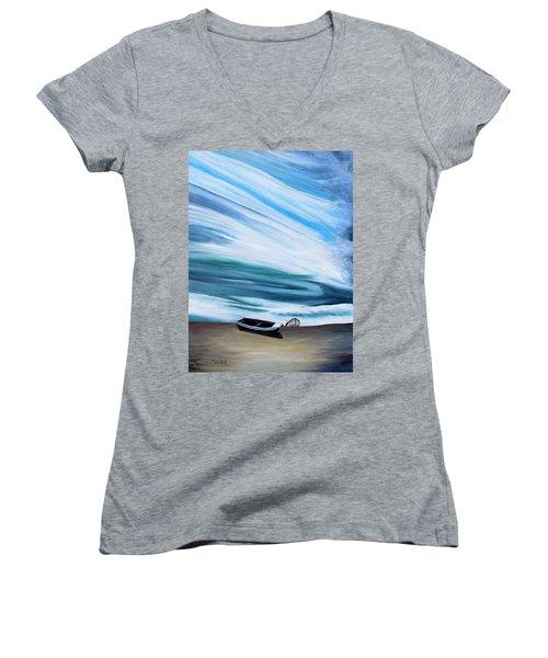 Land Meets Sky Women's V-Neck T-Shirt