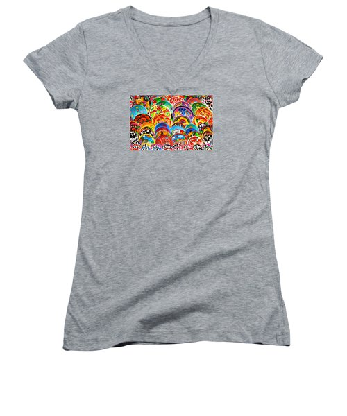 Land Of Brilliant Color Women's V-Neck