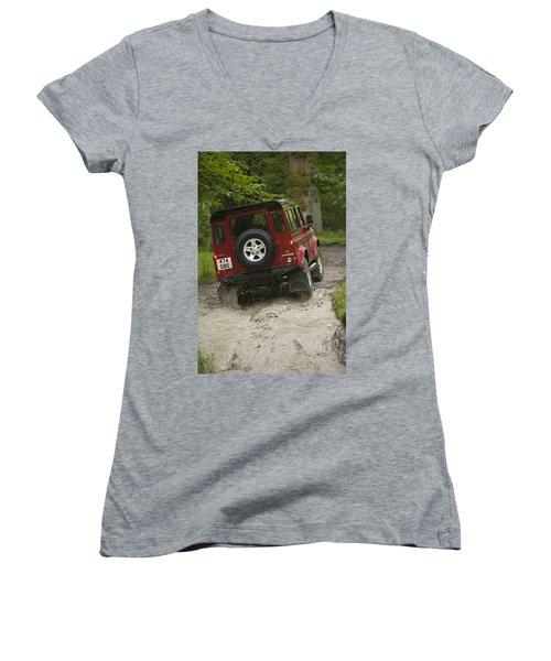 Land Rover Defender Women's V-Neck