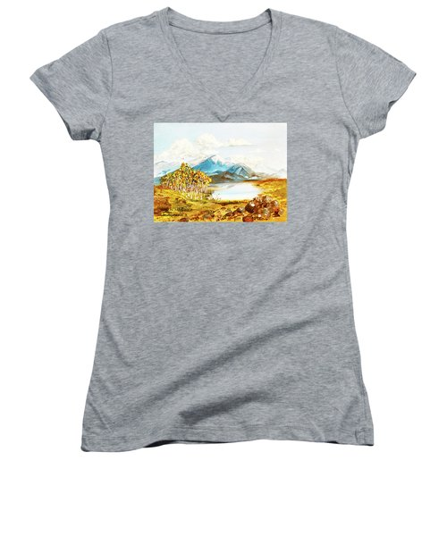 Land Scape No.-3 Women's V-Neck T-Shirt