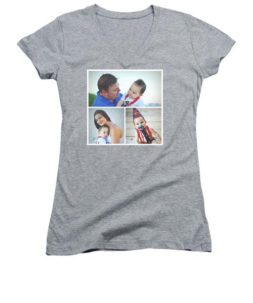 Landon Collage  Women's V-Neck T-Shirt