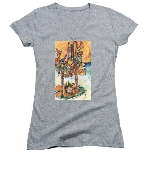Lands End Cabo  Women's V-Neck T-Shirt