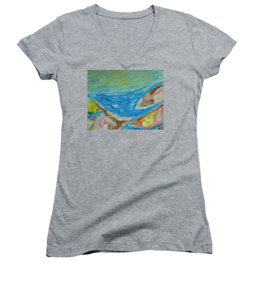 Landscape. Fantasy 12. Top View. Women's V-Neck T-Shirt