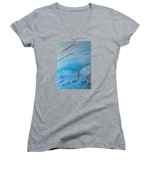 Northern Lights Women's V-Neck T-Shirt