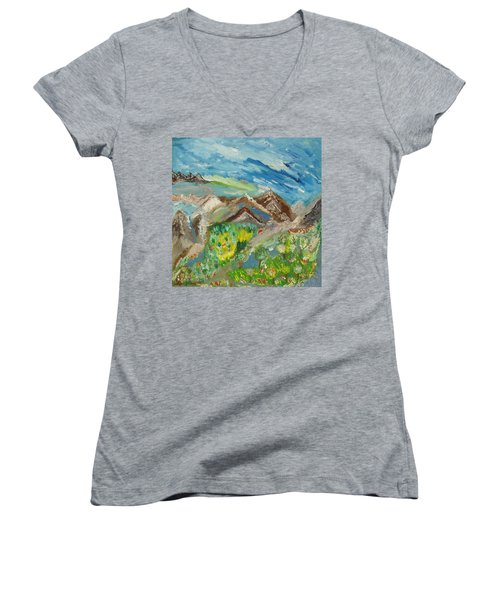 Landscape. Imagination 24. Women's V-Neck T-Shirt