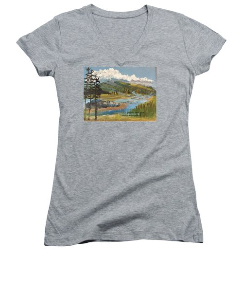 Landscape No._2 Women's V-Neck T-Shirt