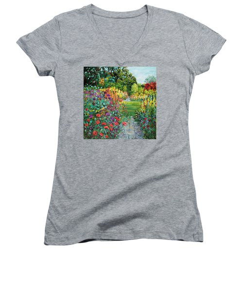 Landscape With Poppies Women's V-Neck