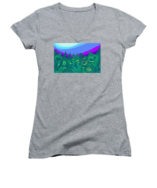 Language Of Forest Women's V-Neck