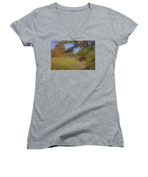 Langwater Farm Tractor Path Women's V-Neck
