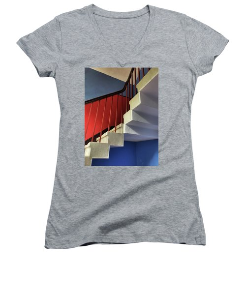 Lanhydrock Stairs Women's V-Neck (Athletic Fit)