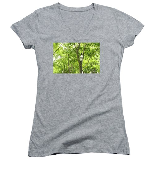 Lanterns Among The Trees Women's V-Neck