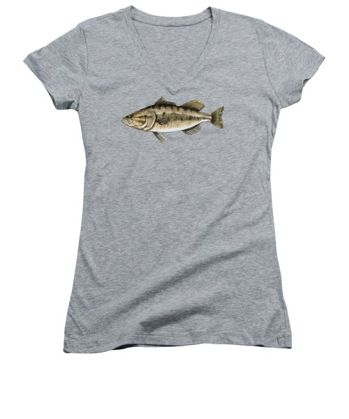 Largemouth Bass Women's V-Neck
