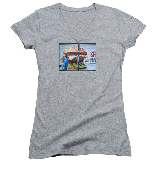 Larger Than Life Women's V-Neck (Athletic Fit)