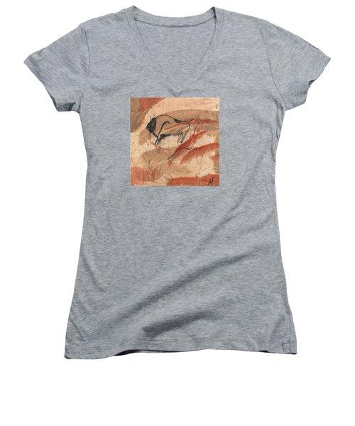 Lascaux Women's V-Neck T-Shirt (Junior Cut) by Phil Strang