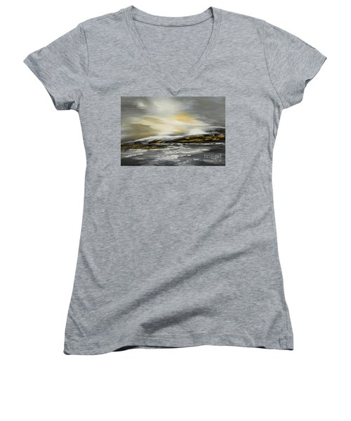 Lashed To Windward Women's V-Neck T-Shirt (Junior Cut) by Tatiana Iliina