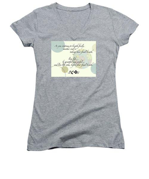 Last Breath Women's V-Neck T-Shirt