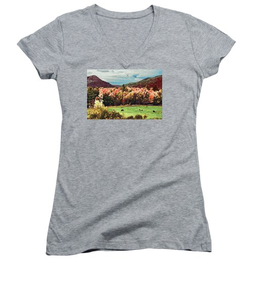 Last Call  Women's V-Neck T-Shirt (Junior Cut) by John Selmer Sr