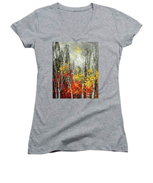 Last Dance Women's V-Neck T-Shirt (Junior Cut) by Tatiana Iliina