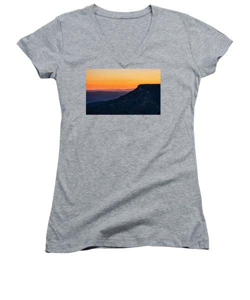 Women's V-Neck T-Shirt featuring the photograph Last Light On The Rim  by Saija Lehtonen