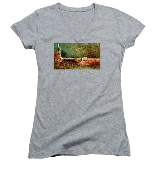Latch 5 Women's V-Neck T-Shirt (Junior Cut) by Jerry Sodorff